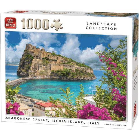 Legpuzzel Aragonese Castke, Ischia Island (1000 pcs)