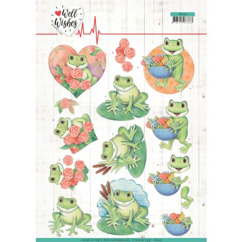 3D knipvel Frogs/ Pills & Vitamins Jeanine's Art Well Wishes