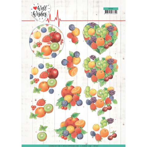 3D knipvel Fruits/flowers Jeanine's Art Well Wishes