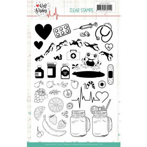 Clear Stamps Jeanine's Art Well Wishes