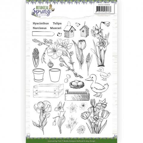 Stempelset botanical spring Amy Design
