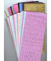 35 Stickervellen Pastelkleuren