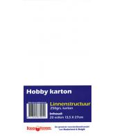 Hobbykarton Linnenstructuur Wit (linnenkarton 13,5 x 27 - wit)