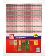A4 Design Papier Kerst Rood-Groen