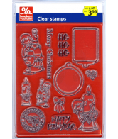 Clearstamps Kerst Champagne/Ho Ho