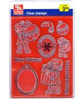 Clearstamps Kerstbal/Wintergroeten
