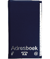 Adresboek 12,5x22cm
