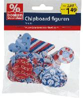 Chipboard figuren Maritiem rood-wit-blauw