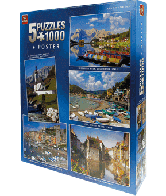 Puzzel 5 in 1 Classic Collection 1000 stukjes