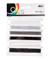 CU13 Satijnlint zwart-wit