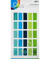 CU13 Papierblok 15x30 special blauw-groen