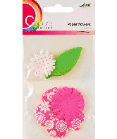 CU13 Papieren Bloemen Roze