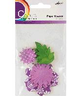 CU13 Papieren Bloemen Paars
