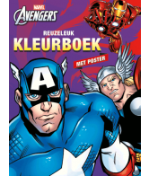 The Avengers Reuzeleuk kleurboek + poster