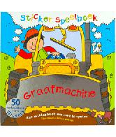 Sticker speelboek Graafmachine