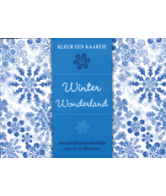 Kleur een kaartje Winter Wonderland