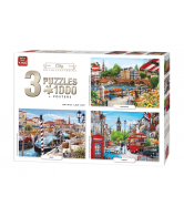 Puzzel 3 in 1 City collection 1000 stukjes