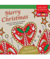 Merry Christmas Ansichtkaarten kleuren voor volwassenen