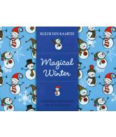 Kleur een kaartje Magical winter