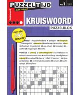 Puzzelblok kruiswoord 3 punt nr 1