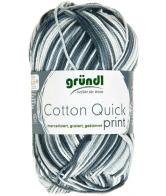 Cotton quick print zwart-grijs multicolor 50 gram