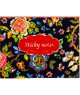Stickey notes travelpack flower