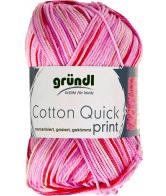 Cotton quick print 193 roze-fuchsia multicolor 50 gram