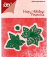 JOY snijmal happy holidays poinsettia (kerstster) november