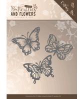 Jeanine's art snijmal butterflies classic butterflies and flowers