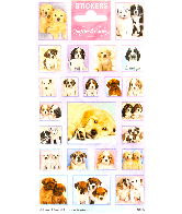 Sticker sheet paper Softies & Cuties Puppies