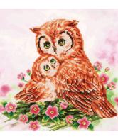 Diamond Dotz mother & baby owl