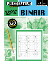 Puzzelboek binair groot nr. 1