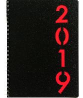 Agenda Weektimer wire-o 2019 Rood nr 210