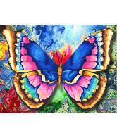 Diamond painting vlinder 40x30cm