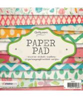 Paper pad 15x15cm 36vel 12 patronen nr. 81 roze geel blauw