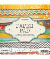Paper pad 15x15cm 36vel 12 patronen nr. 83 geel oranje