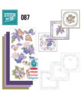 Stitch and Do 87 vlinder en paarse bloemen