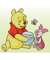 Diamond Painting Kit Disney Pooh met Knorretje 36x32cm