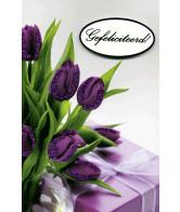 Kaart Hartelijk gefeliciteerd bloemen Luxe 3D wenskaart met glitter