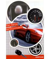 Kaart Van Harte Gefeliciteerd Sportcar Ferrari Luxe 3D wenskaart