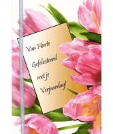 Kaart Van Harte Gefeliciteerd met je Verjaardag! Luxe uitgestanste kaart met lint