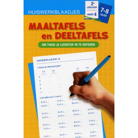 Huiswerkblaadjes 7 tot 8 Jaar Maaltafels